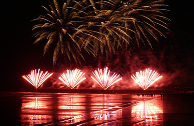 Firework Professionals Ltd Christchurch Pier fireworks